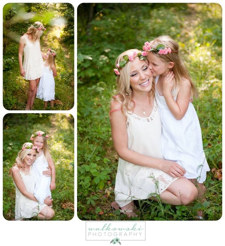 Katie & Tay model beautiful flower crowns from Luxxi Royale.  Hair by Maider, Makeup by Nicole for Euphoria Spalon | Photo from Walkowski Photography