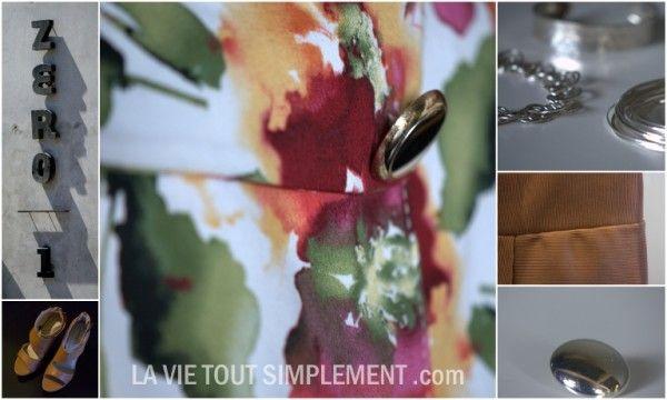 Les inspiration du look jungle tropicale - Projet En mode locale. Tous les détails sur le projet sur www.lavietoutsimplement.com #modeMTL #montreal #mode