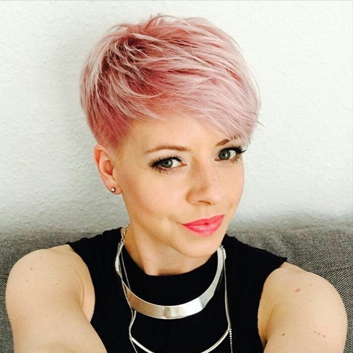 Pleasing 17 Best Ideas About Pink Short Hair On Pinterest Hair Toner Hairstyles For Women Draintrainus