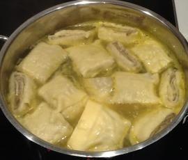 Rezept Schwäbische Maultaschen - gerollt von Krimai - Rezept der Kategorie Hauptgerichte mit Fleisch