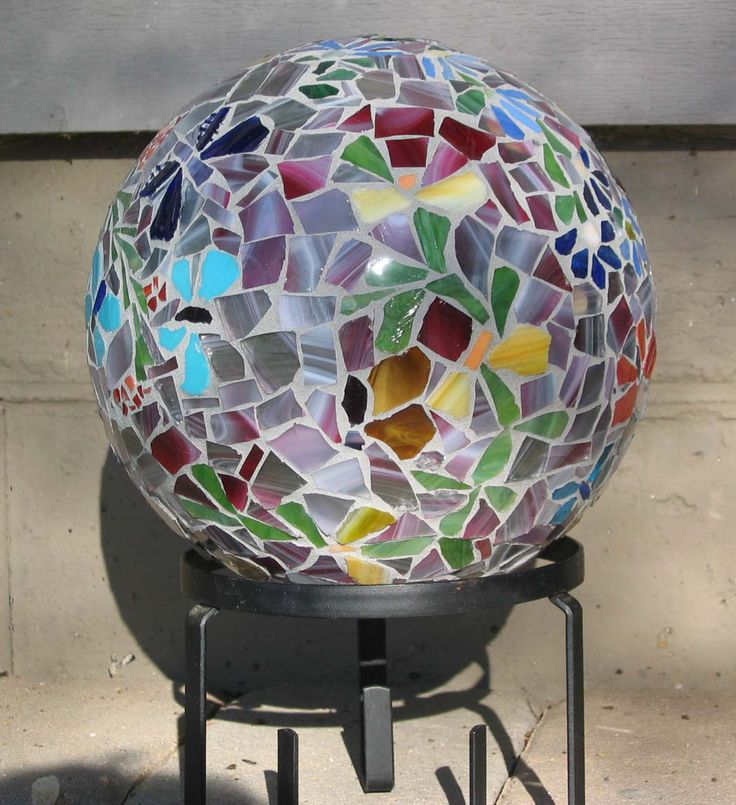Love the colors in this mosaic bowling ball