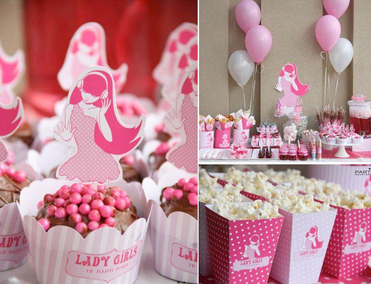 Pink Rock Star Birthday Party via Karas Party Ideas | KarasPartyIdeas.com