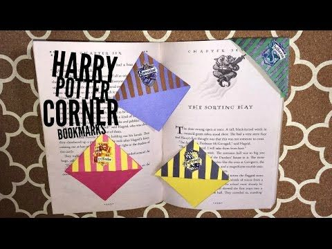 Harry Potter corner bookmarks - YouTube
