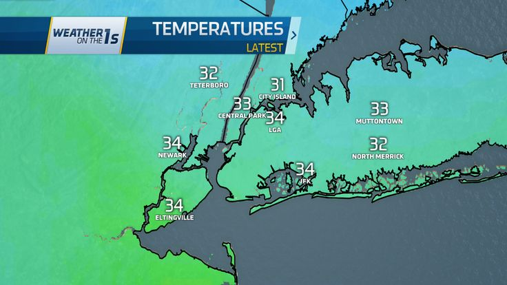 5am temperatures. After earlier snow, most of the city now has rain. Steady/heavy until Noon