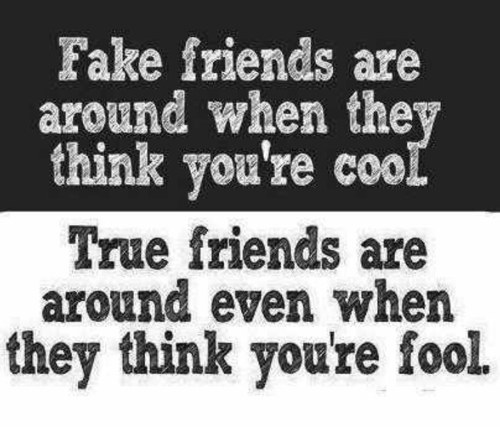 Quotes For True Friends And Fake Friends: True Vs. Fake