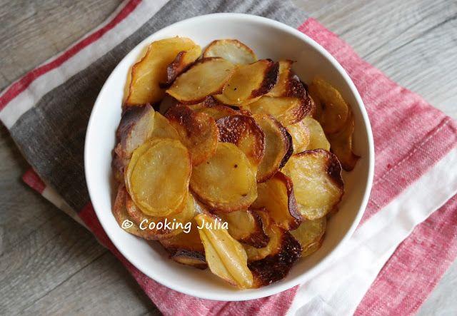 CHIPS MAISON LÉGÈRES AU FOUR | Chips maison, Chips maison au four, Chips