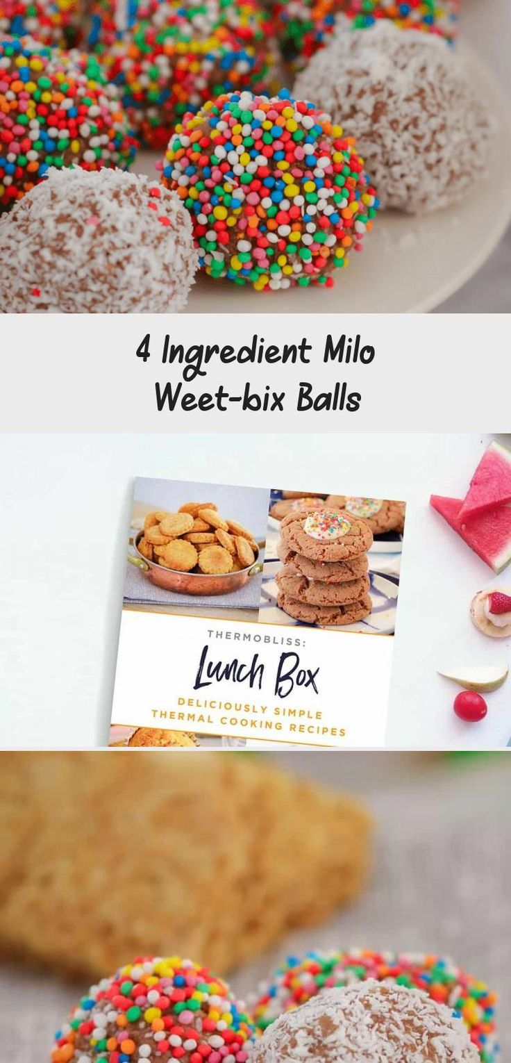 The Easiest Milo Weet Bix Balls Made From Just 4 Ingredients Weet Bix Milo Condensed Milk And Coconut And O In 2020 Weet Bix 4 Ingredients Food Processor Recipes