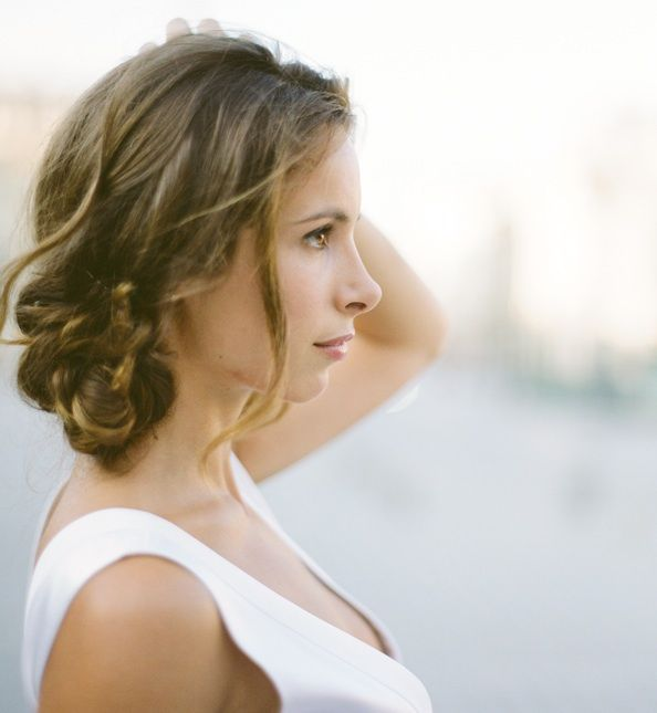 Classic wedding style via Once Wed: #hair #curl: http://www.elisabphotography.com//