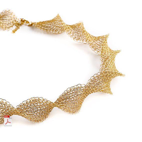 Wire crochet  pattern  INFINITY necklace  Wire crochet by Yoola