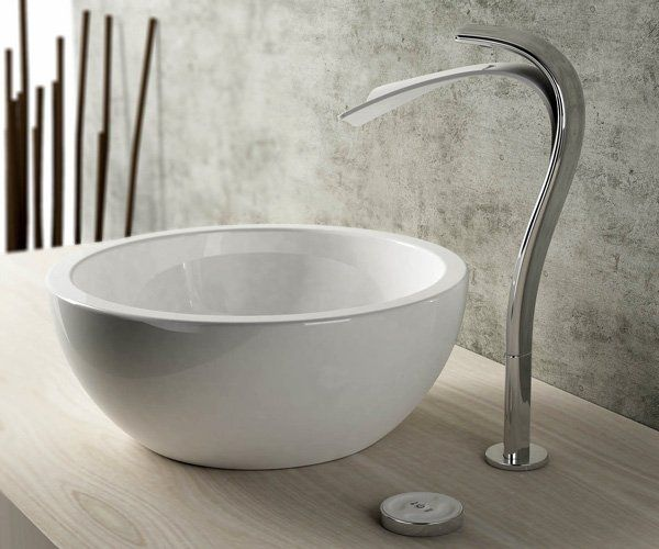 Contemporary Bathroom Ideas, Linfa Bathroom Faucets Inspired by Waterfalls