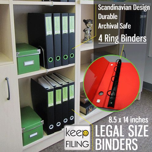 Excellent #legalsize #binders for office or personal use.  Professional looking and sleek modern #scandinavian design.  4 ring binder for extra support making sure your legal size documents stay safe in the binder. Store and #organize legal size contents with this durable and archival safe binder.