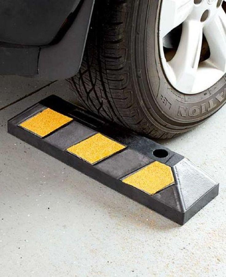 Parking Curb Rubber Wheel Stop Garage Driveway Car Truck RV Camper Park Safety #UnbrandedGeneric