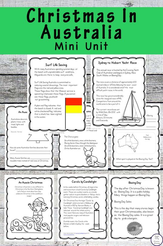 The Ultimate Pinterest Party Week 178 | Learn more about how Christmas is celebrated in Australia with this Christmas in Australia Mini Unit.
