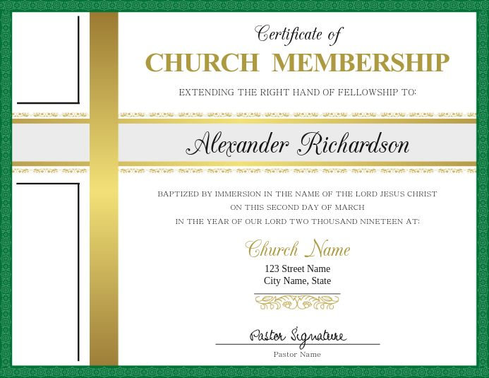 Certificate Of Church Membership Card Template Membership Card Flyer