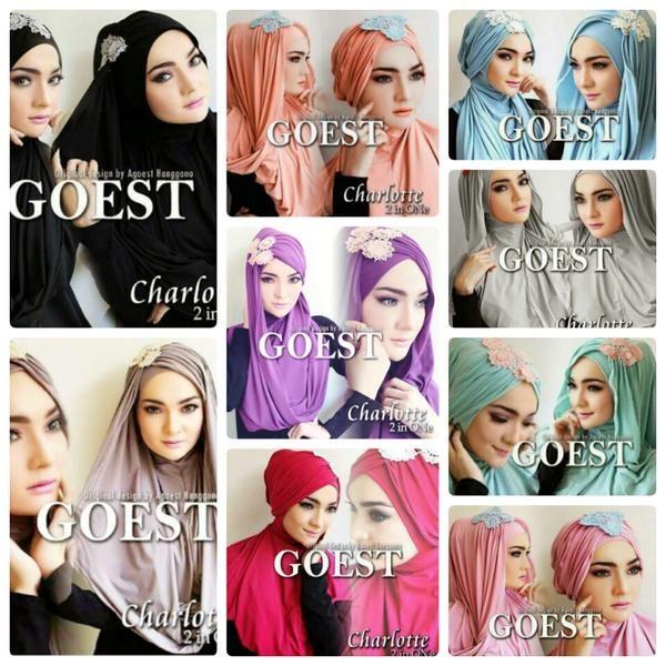 Hijab / Jilbab / kerudung Hoodie Charlotte 2in1  Jilbab instant 2in1, dengan aksen kerut di kepala serta renda import, bisa dikreasikan menjadi 2 model berbeda yakni model hoodie atau model turban. Ket : panjang sesuai gambar, warna renda disesuaikan dengan stok yg tersedia (putih, birumuda, krem, pink, ungu), tutorial cara penggunaan di gambar ke-2  Bahan : jersey zoya  Keterangan dan stok warna ready : - Hitam : ready - Salem : ready - Biru turkish : ready - Lavender : ready - Silver…