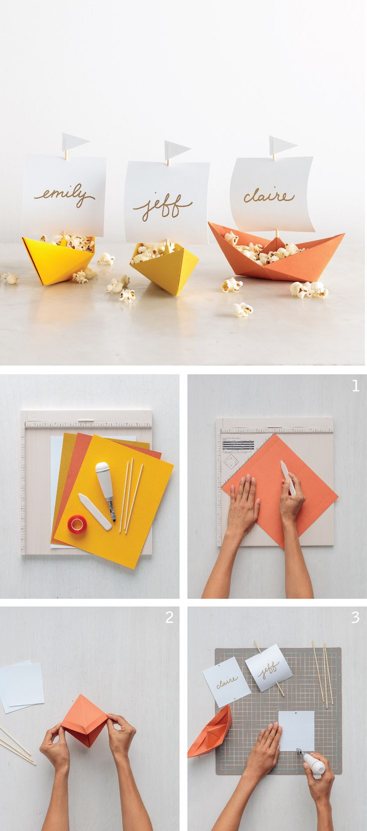 Get your Thanksgiving table in ship shape with these festive and functional place cards!