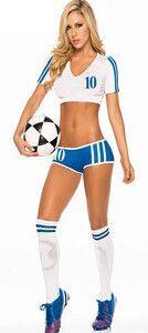 Fantasy Soccer Sexy Shorts Cheerleaders Halloween