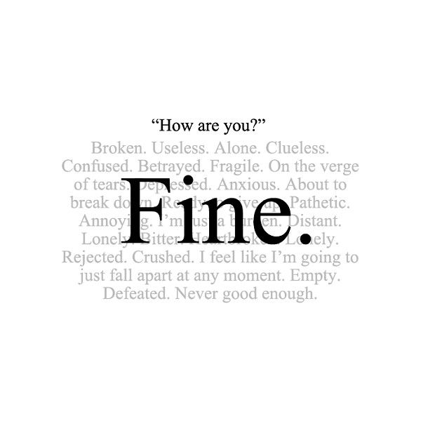 Sad Quotes ❤ liked on Polyvore