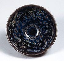 Jian ware Tea bowl, Jian-type stoneware with oil-spot effect (yohen temmoku) from Fujian province, 12th–13th century, Southern Song dynasty; in the Seikado Bunko Art Museum, Tokyo. © The Seikado Bunko Art Museum