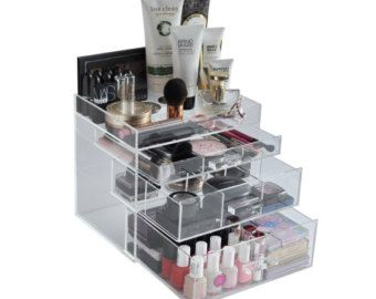 Clear Acrylic Makeup Organizer Beauty Cube by TheBeautyCubeShop