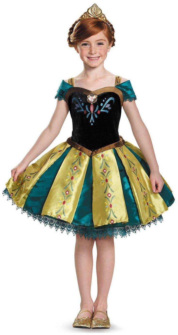 partybellcom frozen anna coronation gown prestige tutu child costume - Halloween Anna Costume