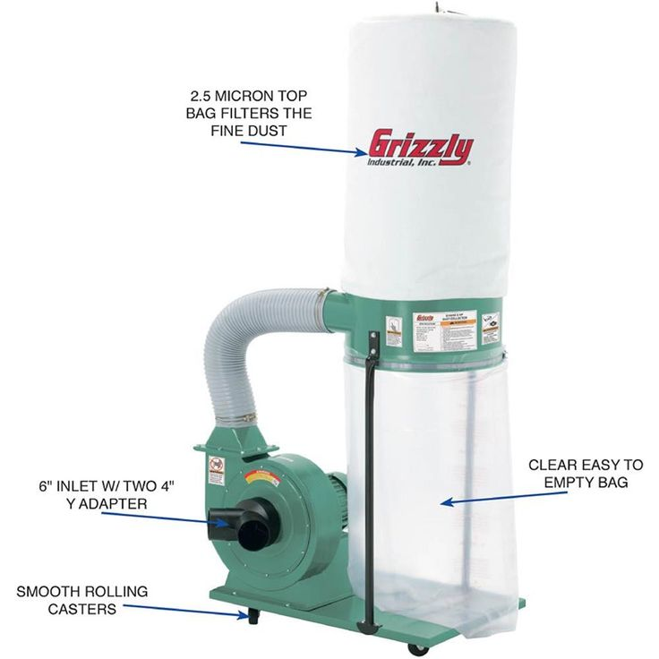 Shop our G1028Z2 - 1-1/2 HP Dust Collector at Grizzly.com