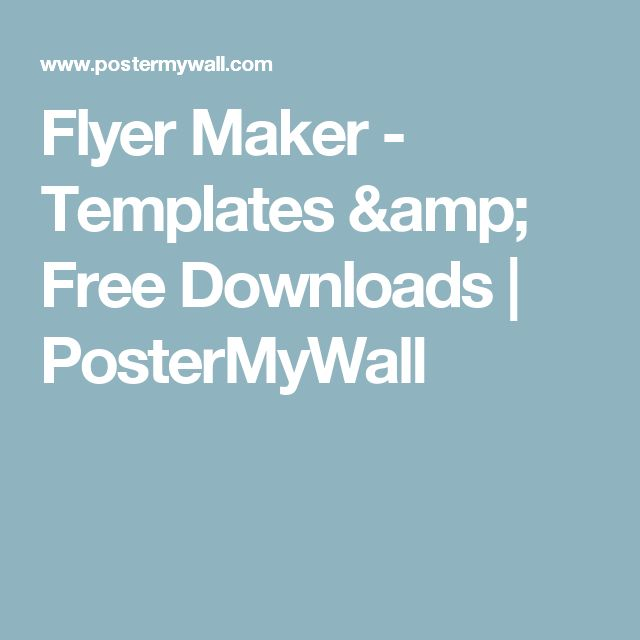 Flyer Maker - Templates & Free Downloads | PosterMyWall
