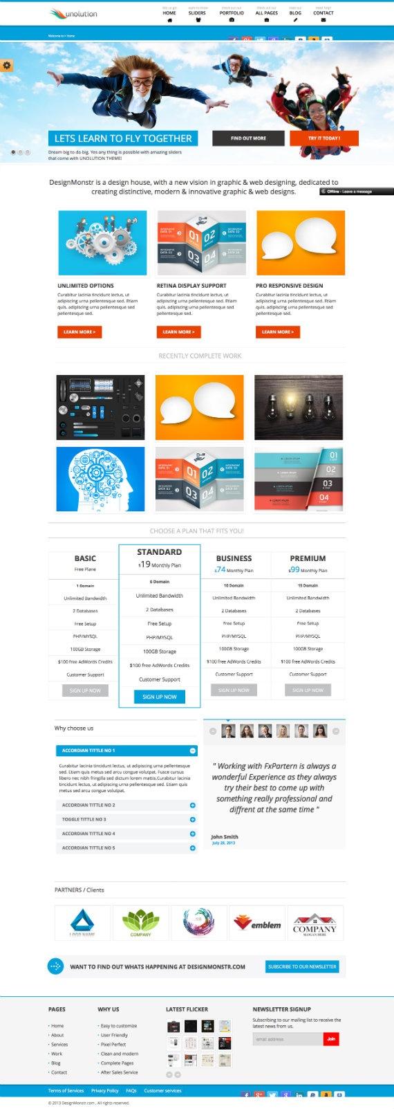 best html5 theme
