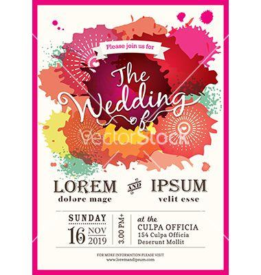 907 best wedding invites images on pinterest invites weddings and color splash wedding party invitation card vector by kraphix on vectorstock stopboris Choice Image