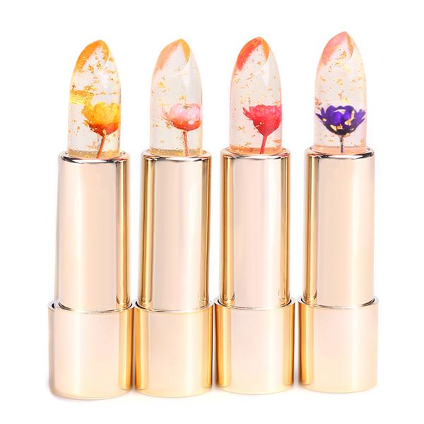 Kailijumei Color Changing Jelly Flower Lip Stick Gold Foil Moisturizing Clear…