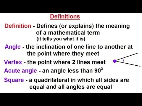 Geometry: Ch 5 - Proofs in Geometry (2 of 58) Definitions