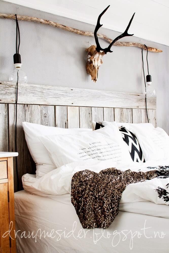 26 idées de décoration et de décoration de chambre rustique ...