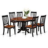 Include: 7 piece One Avon Oval Table With 18in Butterfly leaf and 6 Antique matching chairs with wood seats. Prime quality dining room chairs that created with 100% Asian Hardwood; No MDF, veneer, lam...