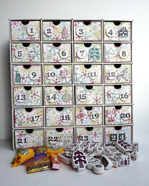 Výsledek obrázku pro adventní kalendář z kartonu