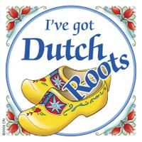 "A unique gift for someone with European roots. This charming quality decorative magnetic tile features the saying: ""I've got Dutch roots!"" Approximate Dimension"