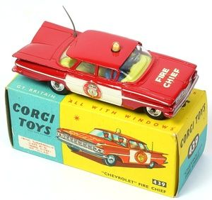 Corgi Toys 439 Fire Chief car with white painted doors