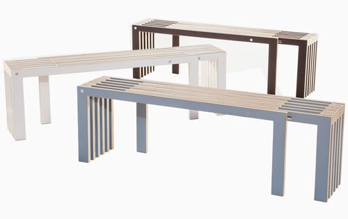 The Agranda Bench is a modern answer to the age-old lack of seating problem we've all had. The two-seater space saving bench extends in length to double its size when you're in need of more seats.