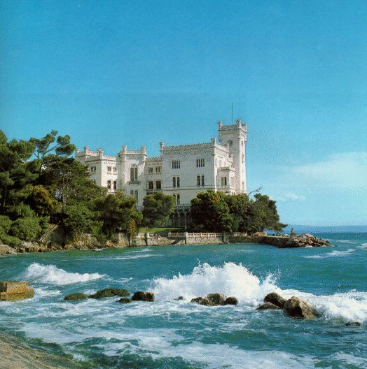 Miramare castle. Trieste, Italy. I got to walk inside here!!