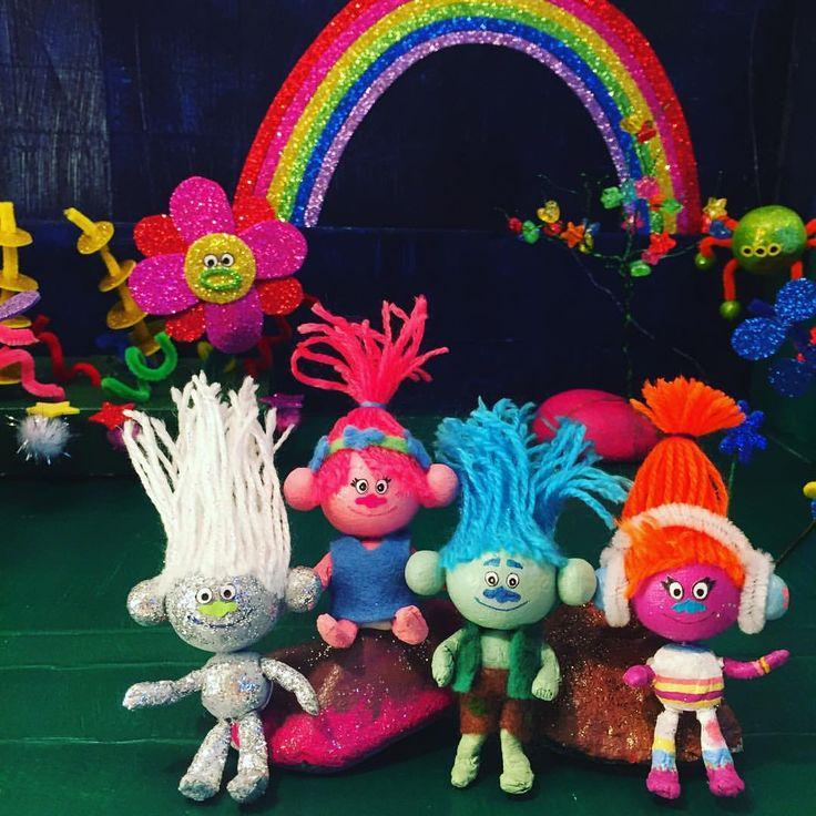 DIY Make your own Trolls world and Trolls figures Poppy, Branch, Guy Diamond, DJ Suki.