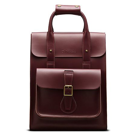 Dr. Martens Small Leather Backpack | Women's - Cherry Red