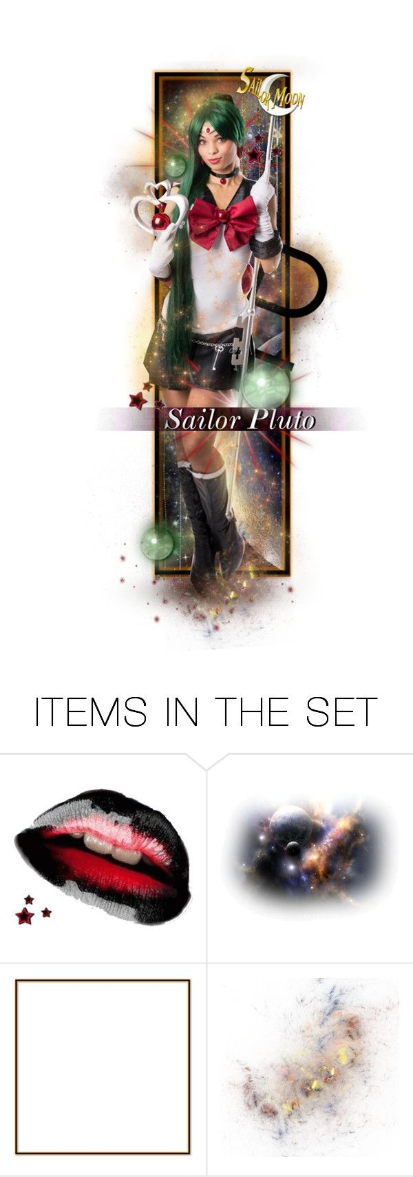 """""""Sailor Pluto"""" by alyssastar ❤ liked on Polyvore featuring art and sailormoon"""