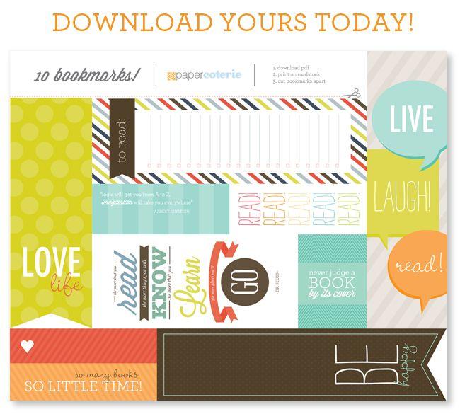 Cute FREE printable bookmarks!