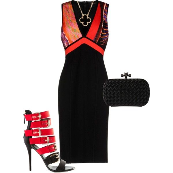 the night by caterinami on Polyvore featuring moda, FAUSTO PUGLISI and Van Cleef & Arpels