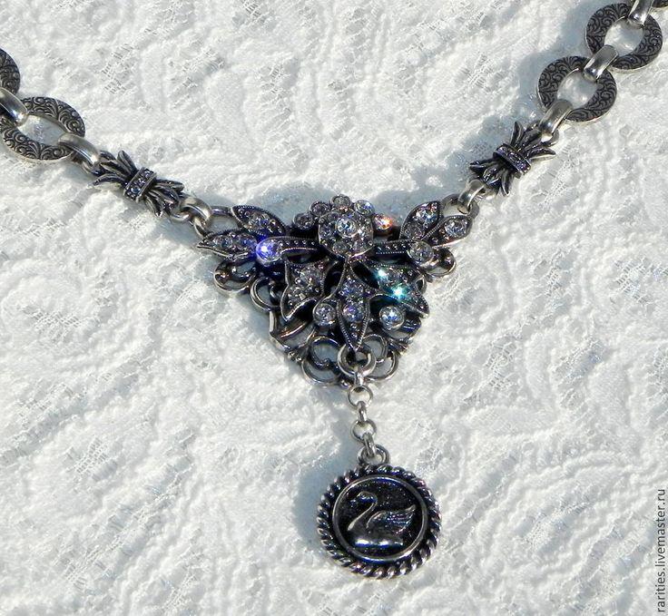 """Купить """"Лебединое озеро"""" ожерелье,Kirks Folly,США,колье,вечернее украшение - дизайнерское украшение"""