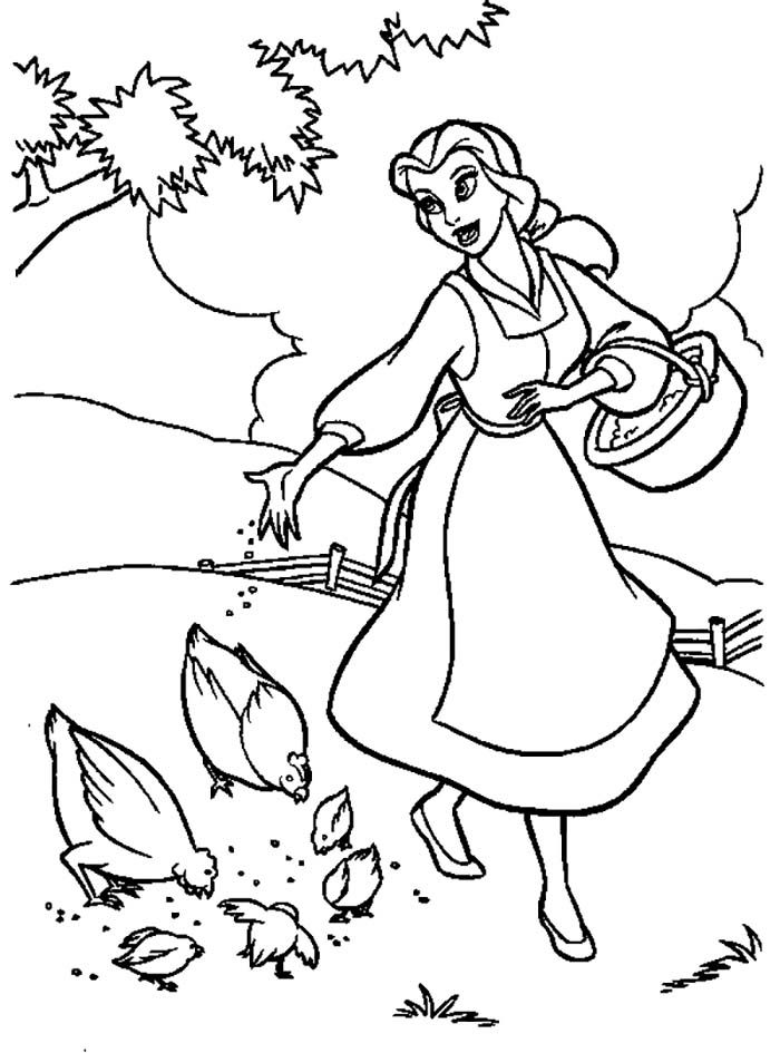 28 best Beauty and the Beast Coloring Pages images on Pinterest