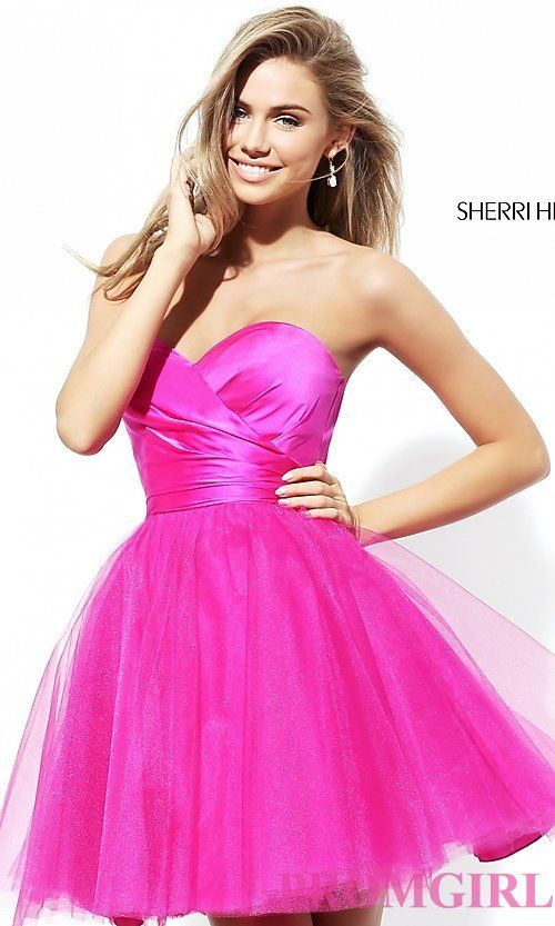 Short Strapless Homecoming Dress by Sherri Hill | Dresses❤ | Pinterest |  Strapless homecoming dresses, Homecoming and Homecoming dresses