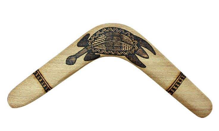 Dharug Artifacts Boomerang Turtle XRay 18""