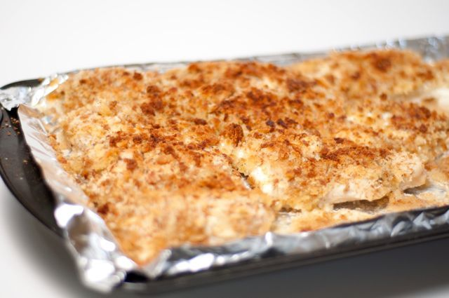 Baked - Sour Cream Chicken - I used panko bread crumbs.  We really liked this but I would like to use PF bread crumbs next time.
