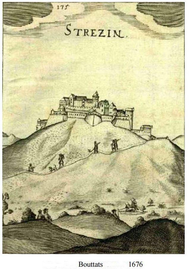 Strečno Castle in 1676