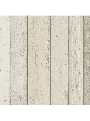 Carta da parati effetto legno shabby chic in PVC su TNT Natural look